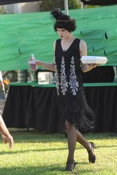 Alexandra Daddario - On the Set of American Horror Story in Los Angeles, October 2015