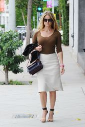 Alice Eve Street Fashion - Out in Los Angeles, October 2015