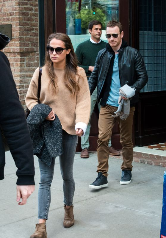 Alicia Vikander - Leaving a Hotel in New York City, October 2015