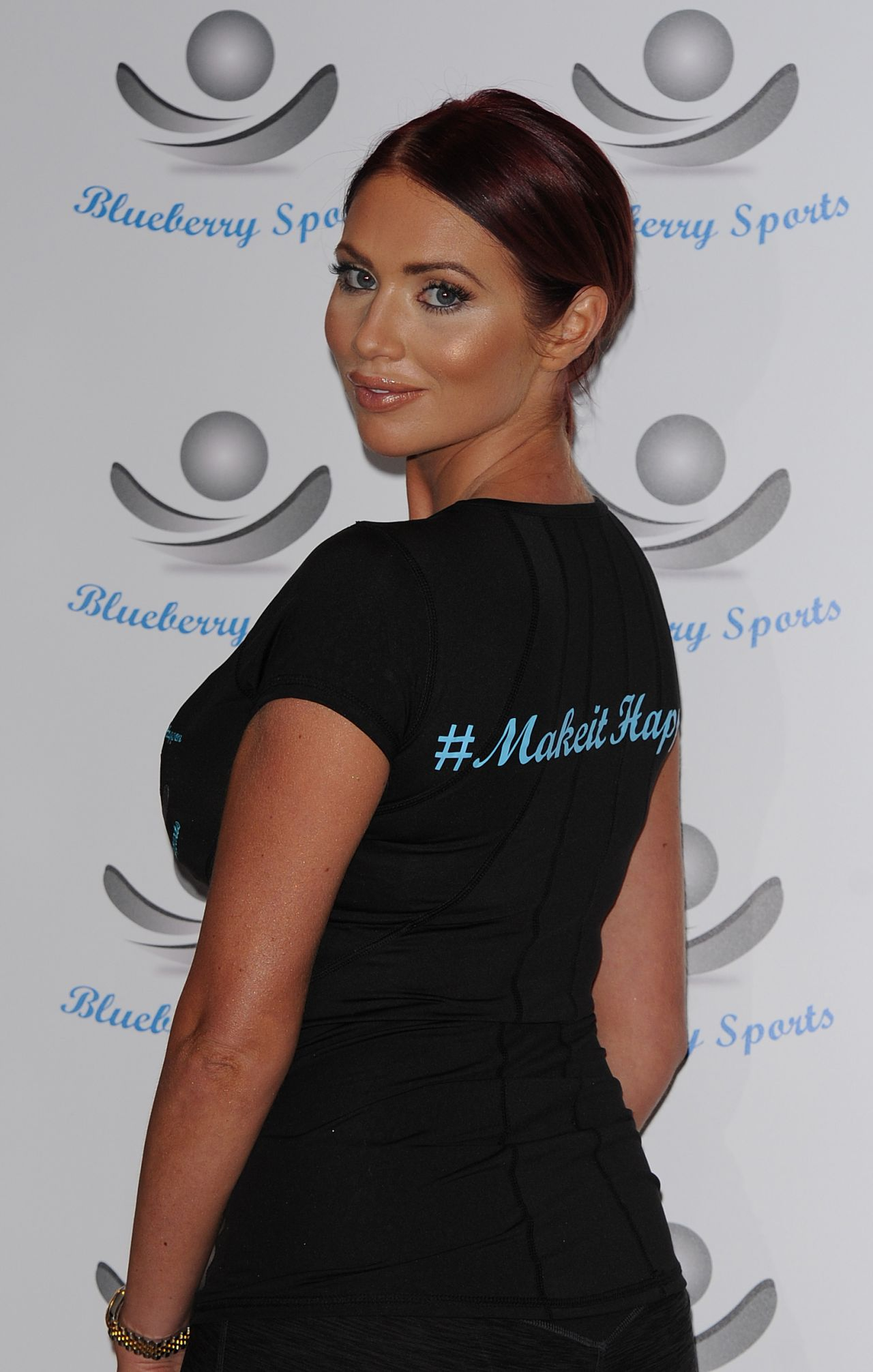 amy childs blueberry sports drink launch in london