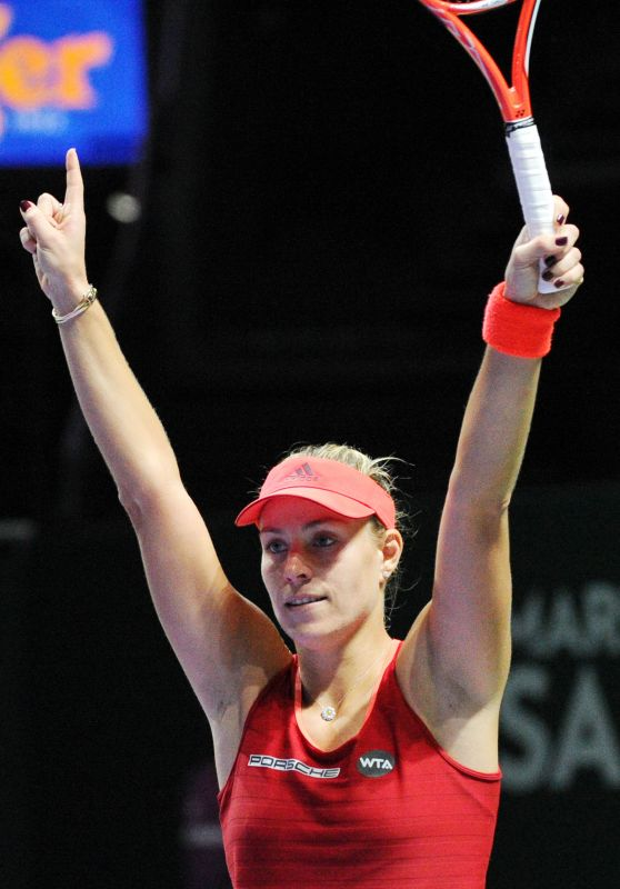Angelique Kerber – 2015 WTA Finals Round Robin Match in Singapore