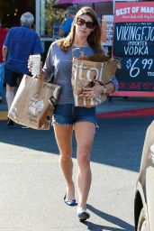 Ashley Greene in Jeans Shorts - Shopping at Bristol Farms, October 2015