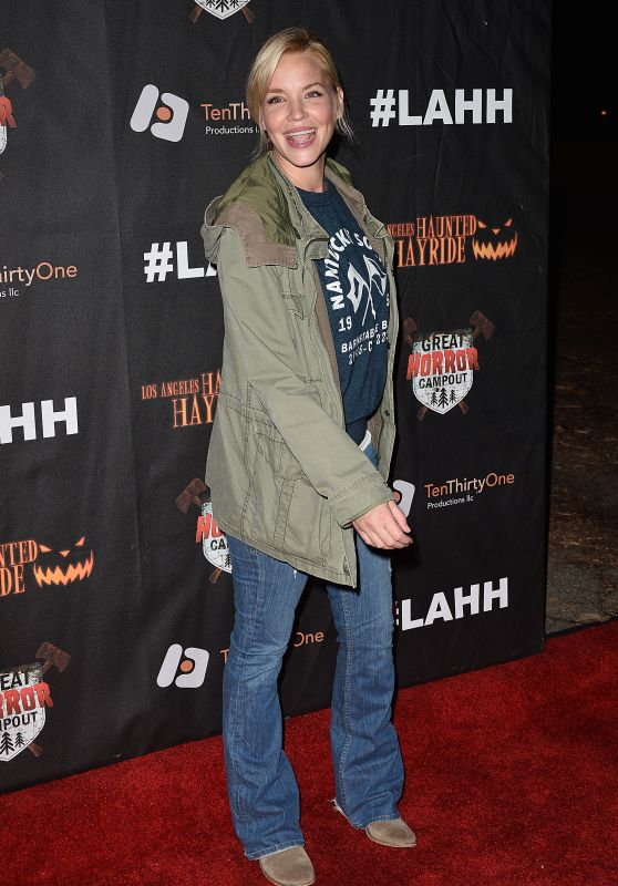 Ashley Scott – Griffith Park Haunted Hayride Opening Night in LA
