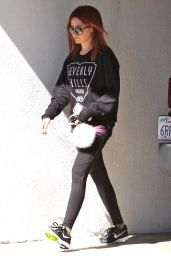 Ashley Tisdale - Leaving a Gym in Studio City, October 2015