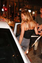 Bar Refaeli - Leaving ARIA Lounge Bar & Restaurant in Tel Aviv - September 2015