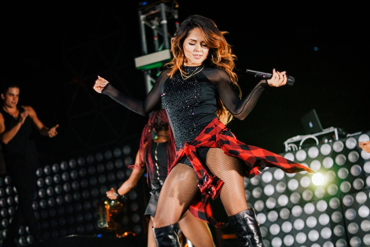 Becky G Performing in Los Angeles, October 2015