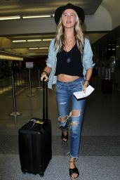 Behati Prinsloo - LAX Airport in Los Angeles, October 2015