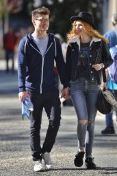 Bella Thorne and Boyfriend Gregg Sulkin Out in Vancouver, October 2015
