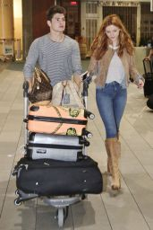 Bella Thorne - Catching a Departing Flight From Vancouver International Airport, October 2015