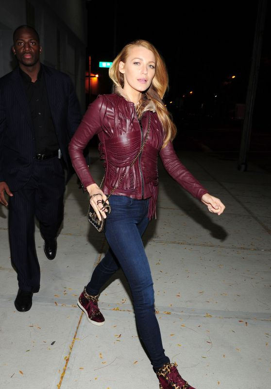 Blake Lively Night Out Style - NYC, October 2015