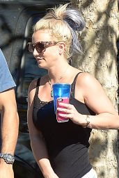 Britney Spears in Shorts - Out in Westlake Village, October 2015