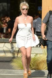 Britney Spears in Summer Mini Dress - Out in Los Angeles, October 2015