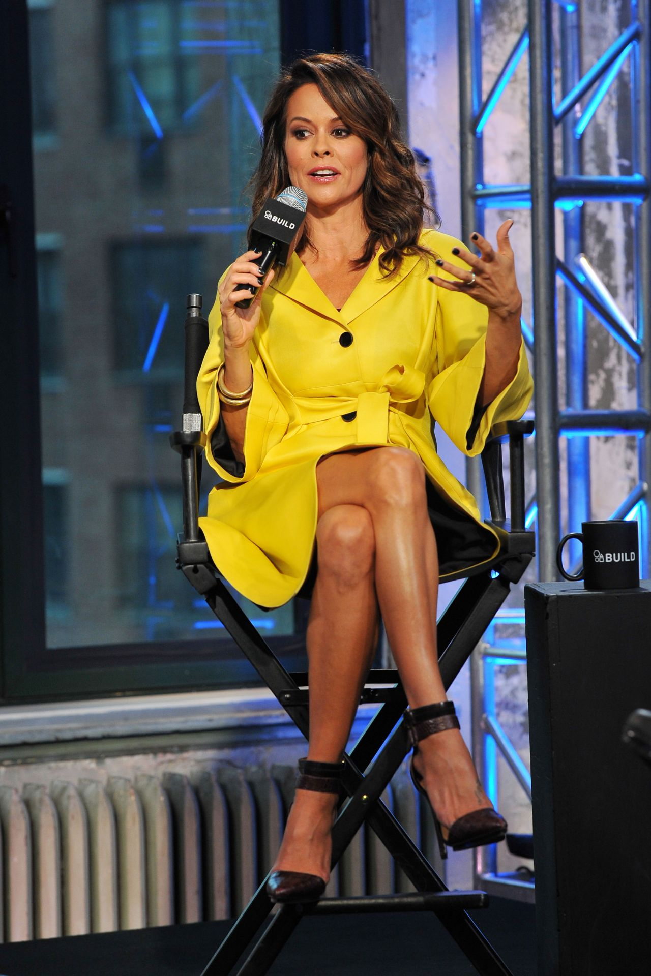 Brooke Burke at AOL Studios in NYC, October 2015