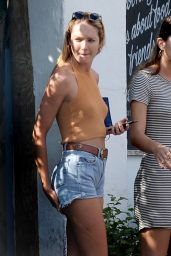 Candice Swanepoel Booty in Jeans Shorts - Out in Miami, October 2015
