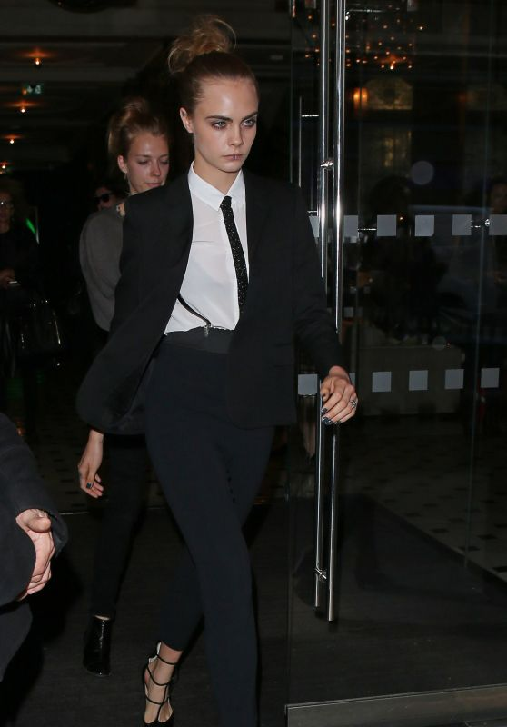 Cara Delevingne - Leaving a Hotel in London, October 2015