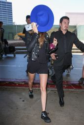Cara Delevingne Shows Off Her Legs - LAX Airport, October 2015