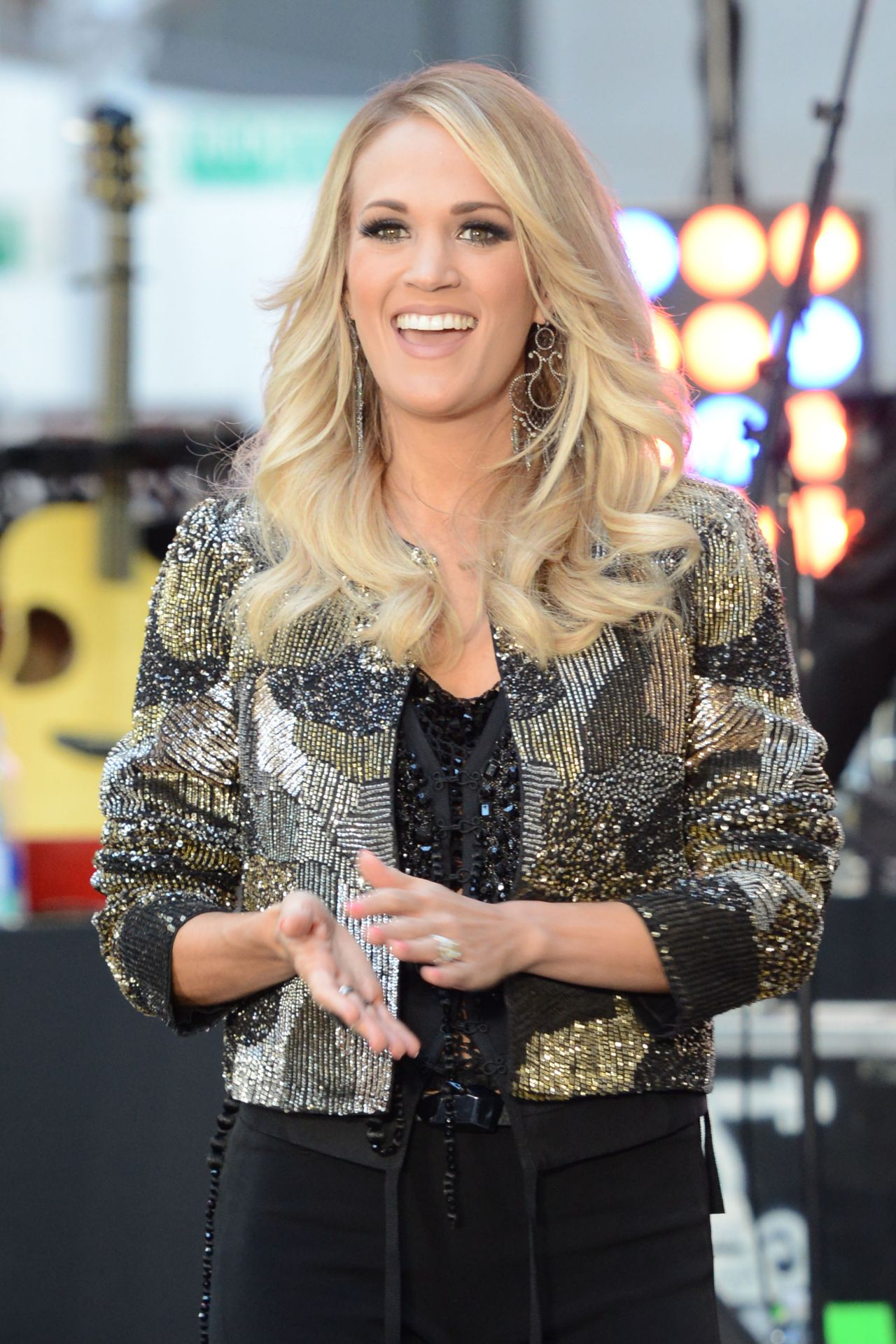 Carrie Underwood Performing At The Today Show In New