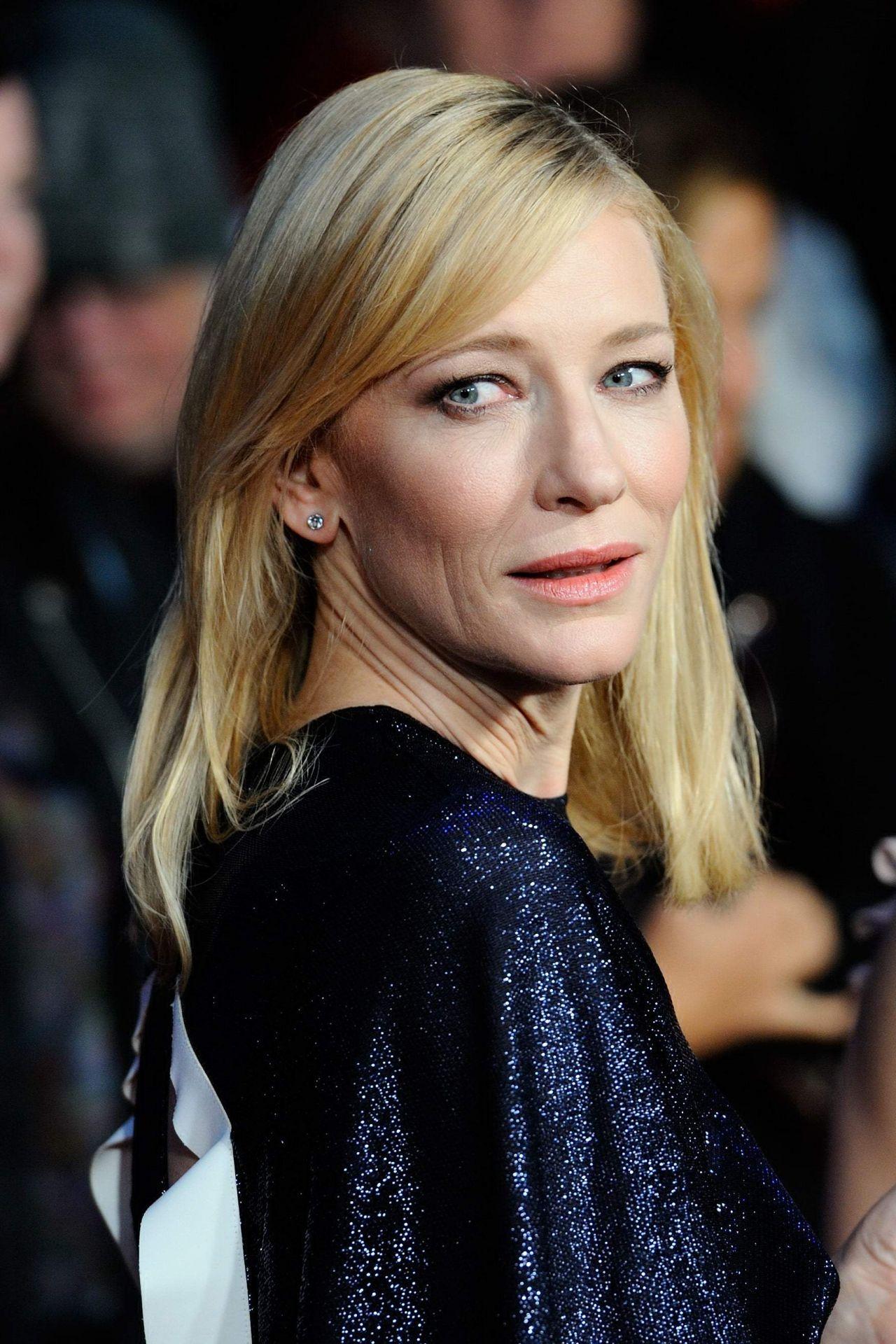 Cate Blanchett On Red Carpet Carol Premiere Bfi London Film Festival