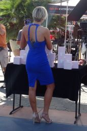 Charissa Thompson - On the Set of Extra in Universal City, october 2015
