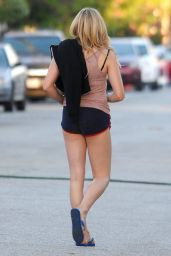 Chloe Moretz Leggy in Shorts - Los Angeles, October 2015