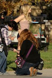 Chloe Moretz - Neighbors 2 Set in Los Angeles, October 2015