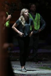 Chloe Moretz on the Set of