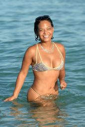 Christina Milian - Hot in Bikini in Miami, October 2015