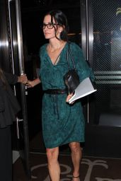 Courteney Cox - Palms Restaurant in West Hollywood, October 2015