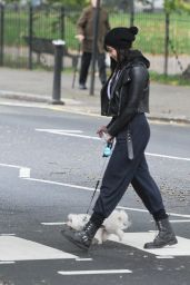 Daisy Lowe - Out For a Walk With Her Dog in Primrose Hill in London, October 2015
