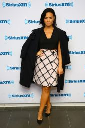 Demi Lovato at SiriusXM Studios in New York City, October 2015