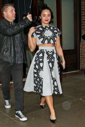 Demi Lovato - Leaving Her Htel in NYC, October 2015