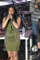 Demi Lovato Performs at Future Now Tour Announcement at the Irving Plaza in New York City