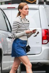 Diane Kruger Leggy in Mini Skirt - New York City, October 2015