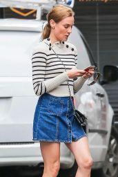 Diane Kruger Leggy in Mini Skirt - New York City, October 2015