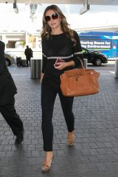 Elizabeth Hurley - Departing on a Flight at LAX Airport in LA, October 2015