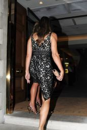 Elizabeth Hurley Night Out Style - London, October 2015