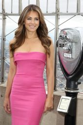 Elizabeth Hurley - Photoshoot at the Empire State Building in New York, October 2015