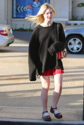 Elle Fanning Casual Style - Out in Beverly Hills, October 2015
