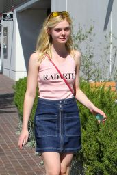 Elle Fanning - Out in Toluca Lake, October 2015