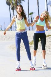 Elsa Hosk and Monika Jagaciak - Photoshoot in Los Angeles, October 2015