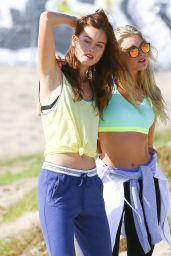 Elsa Hosk and Monika Jagaciak - Photoshoot in Los Angeles, October 2015