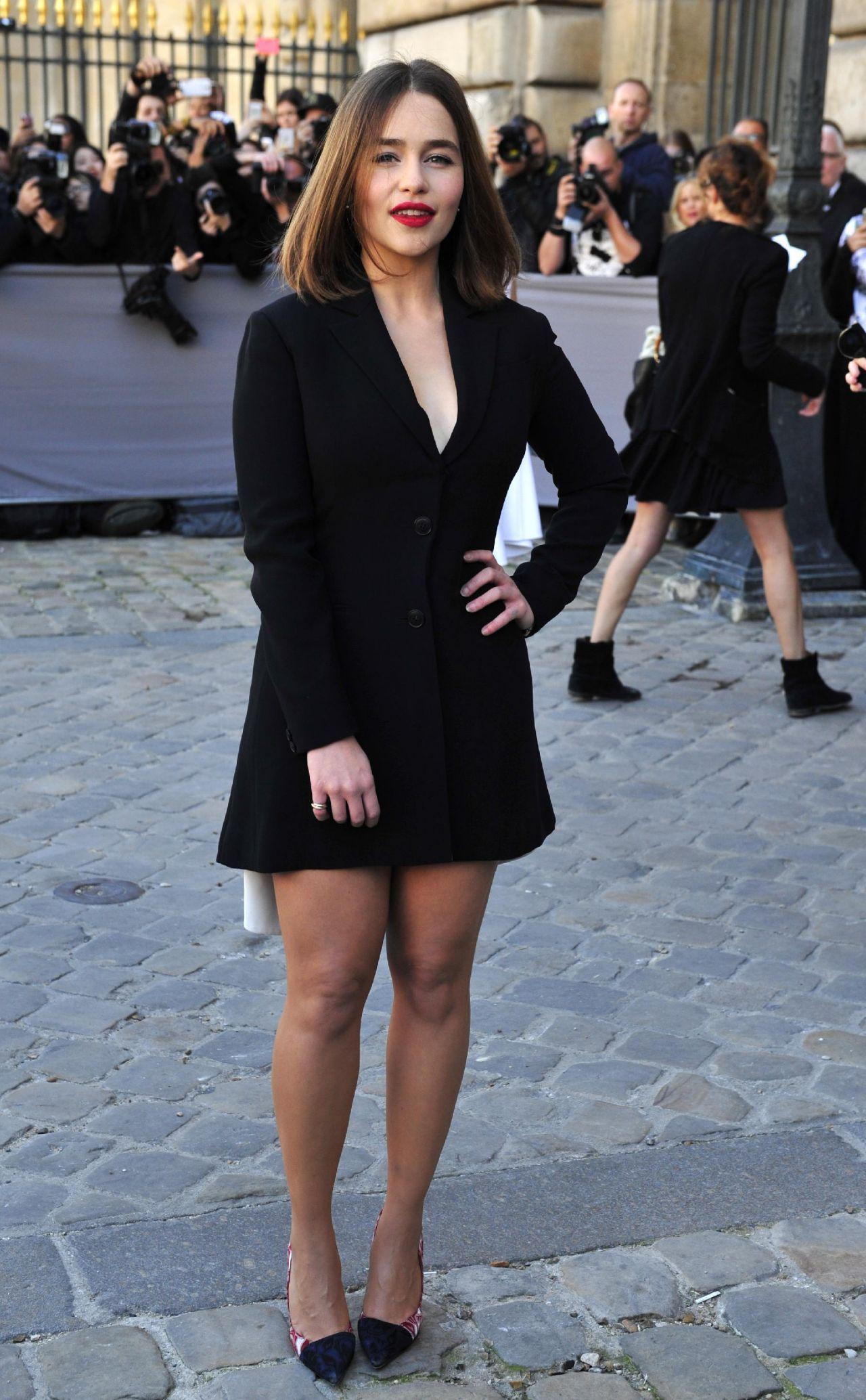 Emilia Clarke - Christian Dior's Spring/Summer 2016 ... Olga Kurylenko Dress
