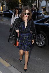 Emilia Clarke Style - Out in Paris, October 2015