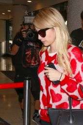Emma Roberts at LAX Airport, October 2015