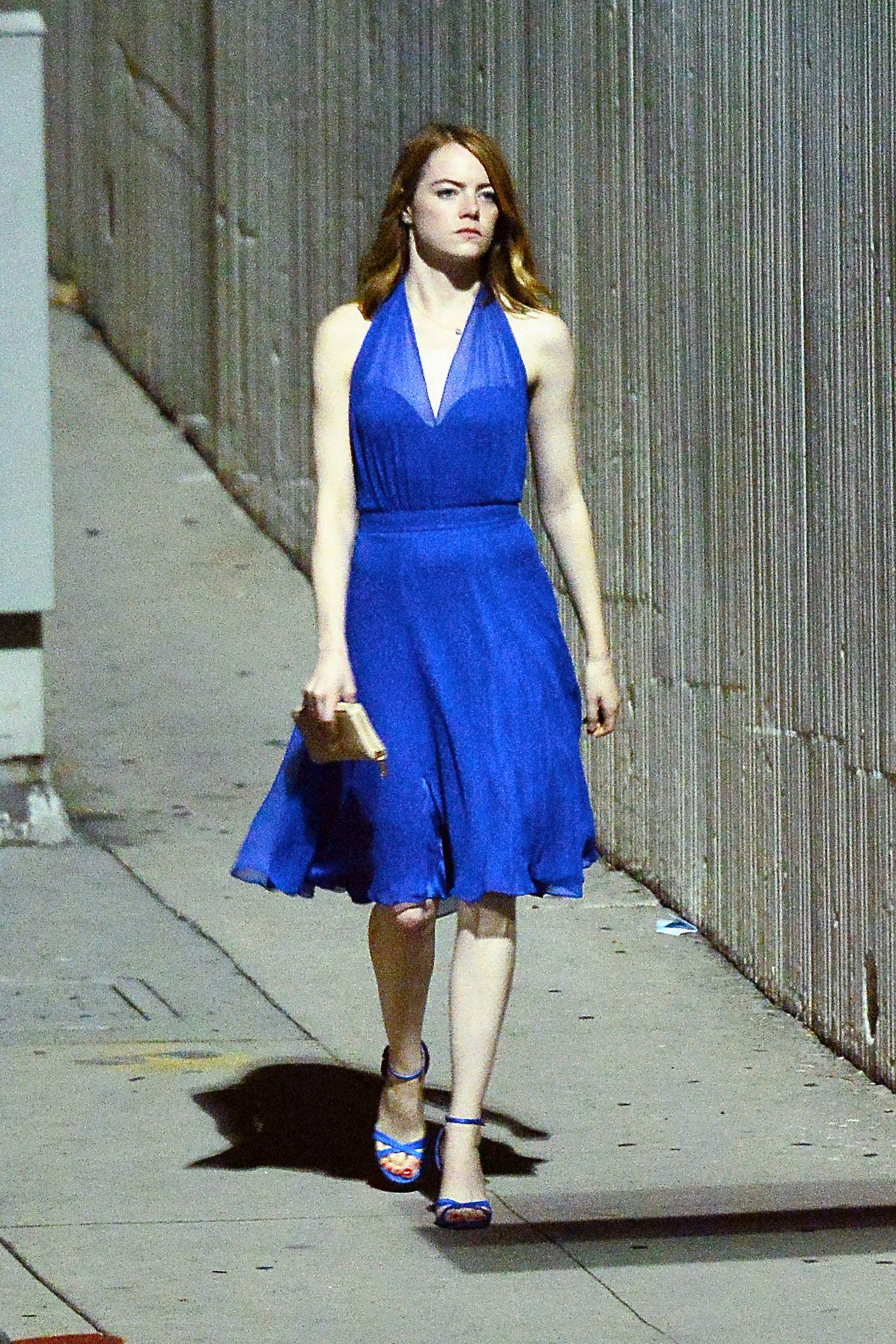Emma Stone La La Land Set In Hollywood October 2015