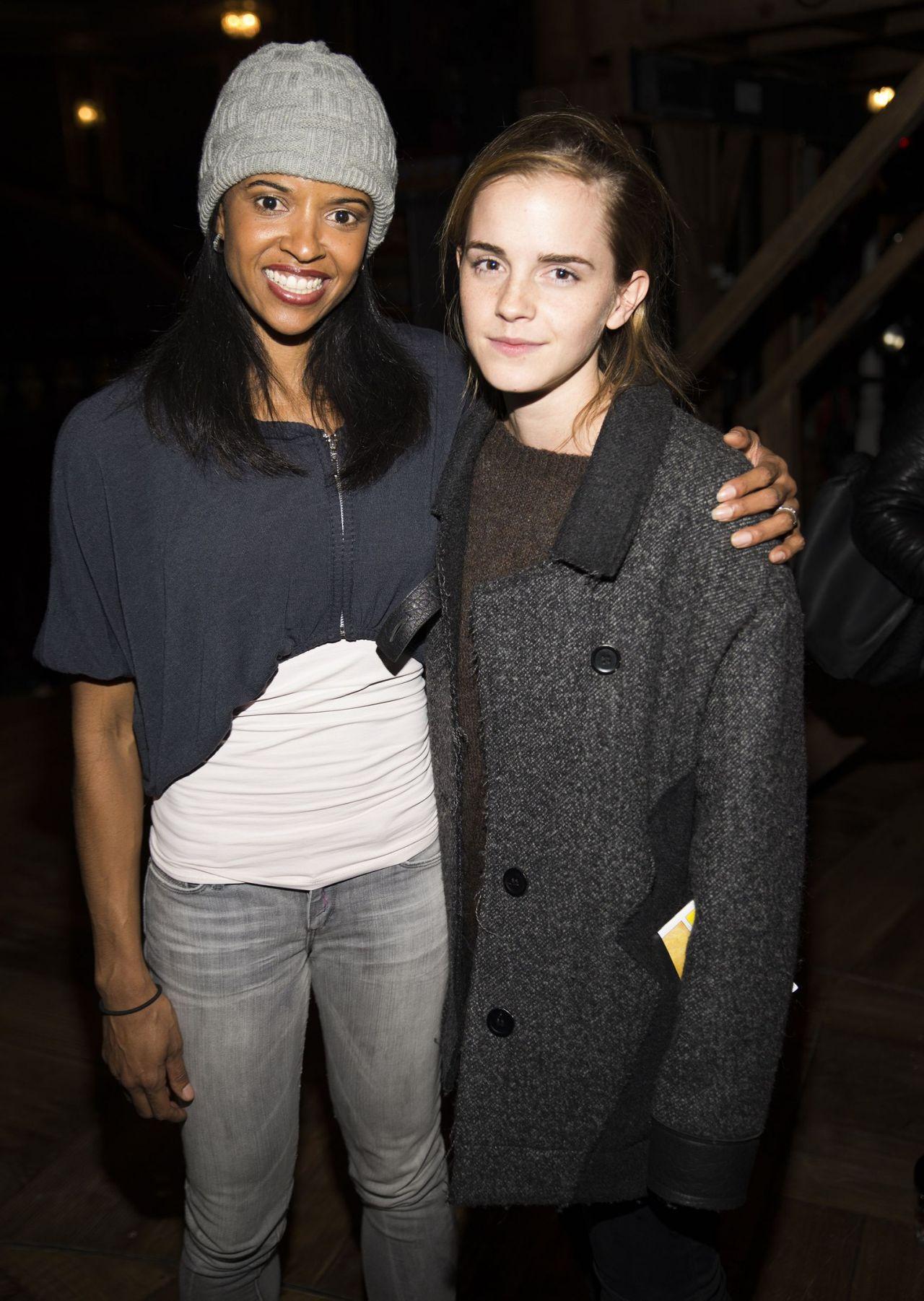 Emma Watson - Backstage at