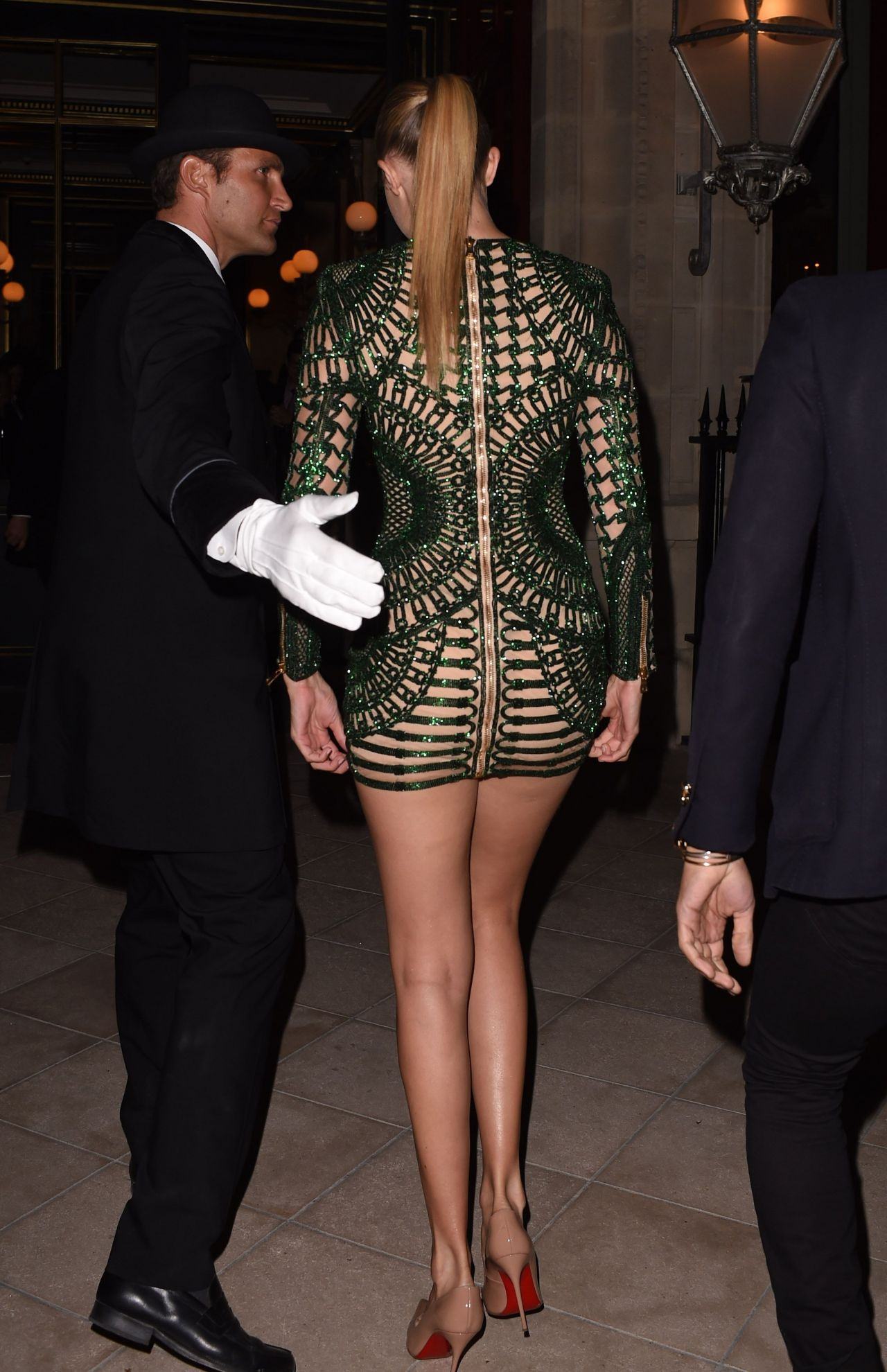 Gigi Hadid in Skin-tight Mini Dress