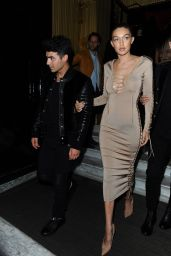Gigi Hadid - Leaving Costes Bar in Paris, October 2015