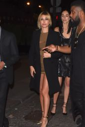 Hailey Baldwin Night Out Style - at Le Six Seven in Paris, October 2015