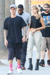 Hailey Baldwin - Out in Beverly Hills, October 2015
